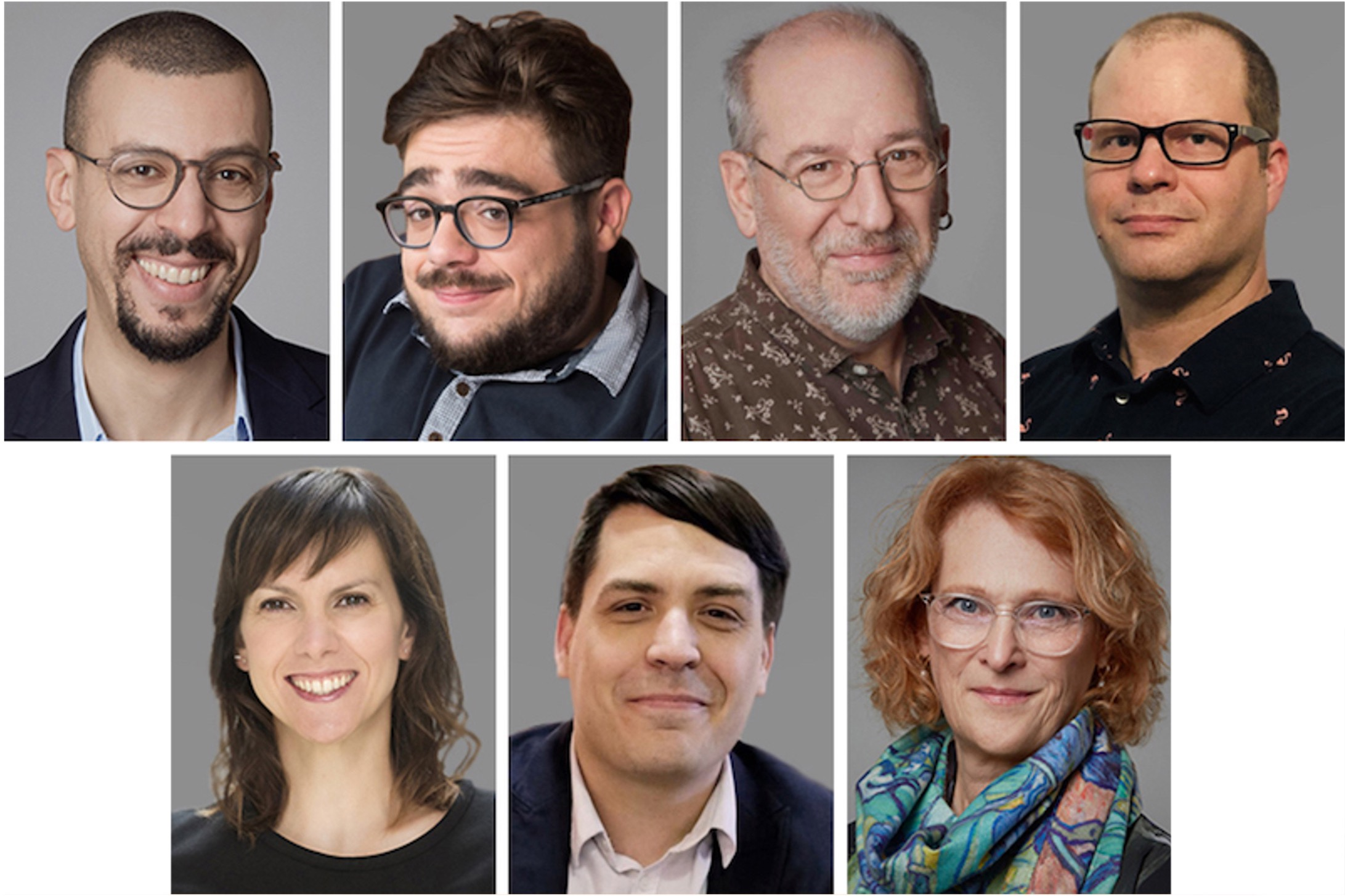 Mosaïque présentant les photographies des huit chercheuses et chercheurs de la Chaire de recherche