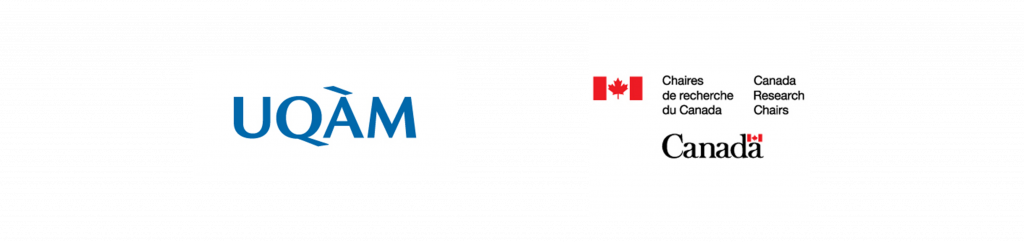 UQAM's logo / Logo des Chaires de recherche du Canada / Canada Research Chairs' logo