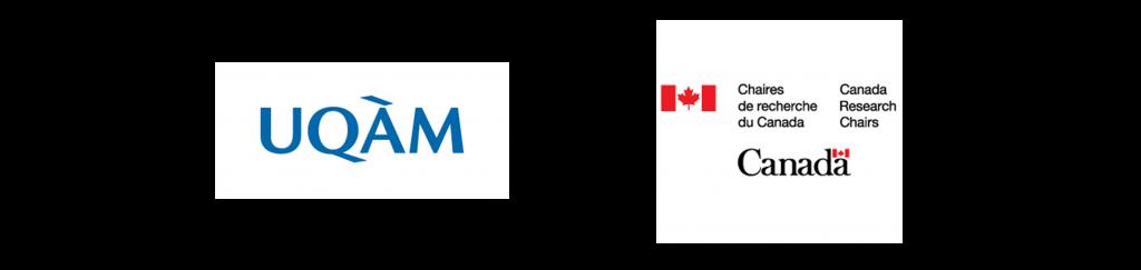 Logo de l'UQAM / Logo des Chaires de recherche du Canada / Canada Research Chairs